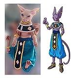 Khemn Luxury 丨HANDMADE 丨100% Cotton Dragon Ball Star Cat Beerus Costume Cat Fashion Clothes-Best for Hairless Cat (Adult)