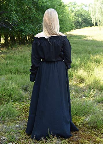 Mittelalterlicher Rock, weit ausgestellt, schwarz aus schwerer Baumwolle – Mittelalter, LARP, Wikinger Größe XXL - 6