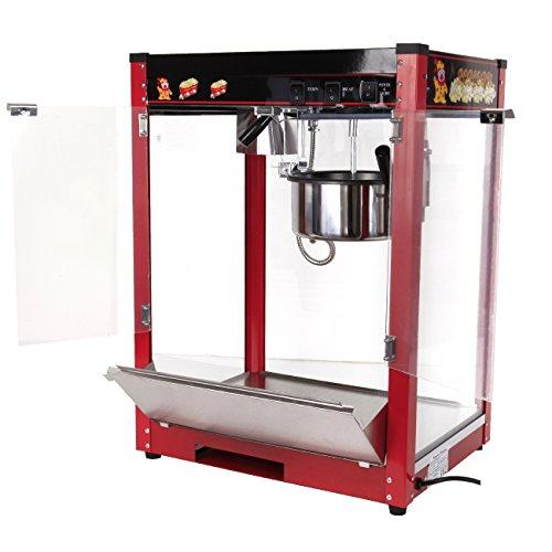 Ridgeyard Premium 8oz commerciale popcorn pop corn Maker Popper macchina 1370W 1/2 (Pan/min)