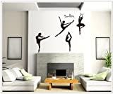 Pegatinas de Pared Pegatinas de Vinilo de Bailarinas para Dormitorio y Salón Decoración de Pared