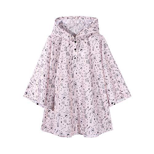 Poncho impermeable para niños, ultraligero, bonito unicornio, estampado de flamencos, con capucha, para niños y niñas