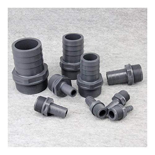 Fuerte y robusto 10pcs 1/2'-1' rosca macho for 8-30mm Pagoda Conector Soft Water Conector de tubos UPVC Fittings de riego Manguera de piezas Manguera de jardín.