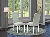East West Furniture Celina Urban Style Chairs - Baby...