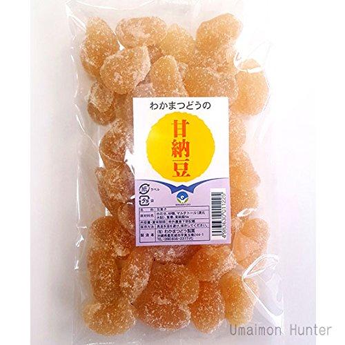 甘露納豆(白花豆) 200g×3袋 わかまつどう製菓 沖縄土産 大粒のあまなっとう お茶請けやおやつに