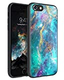 BENTOBEN iPhone 6 Case, iPhone 6s Case, Slim Fit Glow in The Dark Protective Hybrid Hard PC Soft TPU Bumper Women Boys Girly Phone Cases for iPhone 6 / 6S 4.7 Inch, Green Nebula
