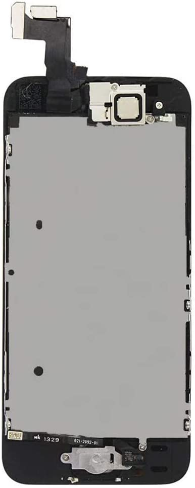 A1528 Ayake for iPhone 5S//SE Screen Replacement with Home Button Black A1518 A1457 A1453 Full Assembly Retina LCD Touch Digitizer with Camera+Earpiece Speaker+Sensors+Tools for A1533 A1530