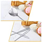 MICGEEK Lange Löffel Latte Macchiato Löffel Eislöffel Eiskaffeelöffel Teelöffel Dessertlöffel Joghurtlöffel Trinklöffel herzförmig - 7