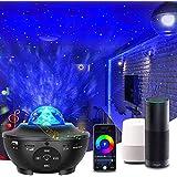 「2021最新WIFI スマート版」スタープロジェクターライト プラネタリウム 部屋用 ベッドサイドランプ APP/Alexa/Google homeで制御 2in1投影効果 21種ライト効果 一台二役 音楽再生機能 タイマー機能付き 音声制御 音量/明るさ/波紋回転スピード調整可 投影ランプ ベッドサイドランプ 雰囲気作り クリスマス/ハロウィン/パーテイー飾り/プレゼント/誕生日ギフト 日本語説明書付き