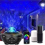 AoiNaka「最新WIFI スマート版&リモコン式」スタープロジェクターライト プラネタリウム カラフル 2in1投影効果 21種点灯モード Bluetooth5.0/USBメモリに対応 スピーカー 一台二役 タイマー機能付き 音声制御 音量/明るさ/波紋回転スピード調整可 投影ランプ ベッドサイドランプ 雰囲気作り クリスマス/ハロウィン/パーテイー飾り/プレゼント/誕生日ギフト 日本語説明書付き