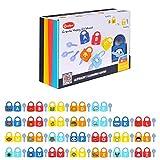 PCGAGA ABC Learning Locks Matching Letter Game Educational Alphabet Set with 26 Locks 26 Keys STEM Educational Gift Toys for Toddler Kids