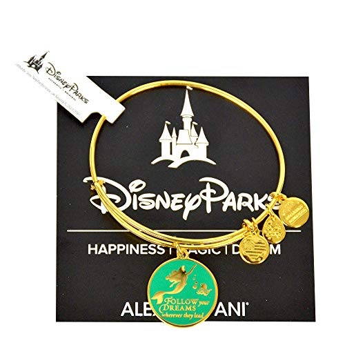 Alex and Ani Disney Parks Little Mermaid Princess Ariel Enamel Follow Your Dreams (Gold)
