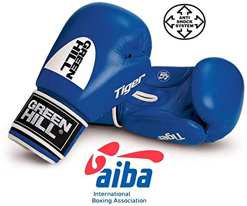Greenhill Boxing Gloves Tiger Aiba (Blue, 12 OZ)