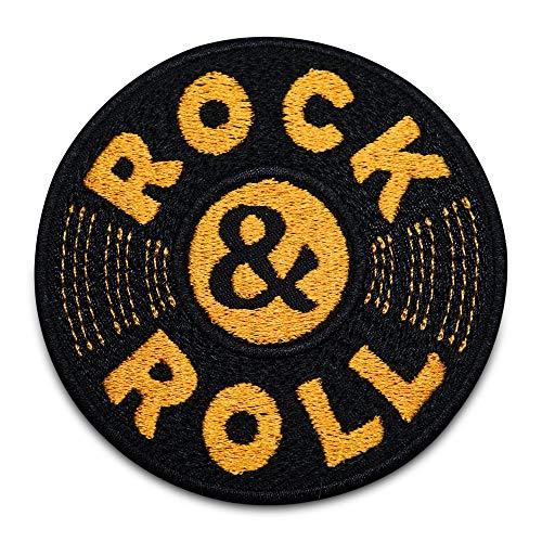 Finally Home Parche termoadhesivo con diseño de disco de Rock and Rol