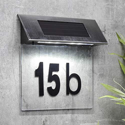 habeig Edelstahl Special Solar Hausnummernleuchte IP44 LED Solarleuchte Hausnummer