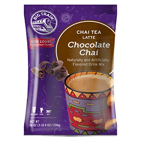Big Train Chai Tea Latte, Chocolate, 56 Ounce, Powdered Instant Chai Tea Latte Mix (Packaging May Vary)