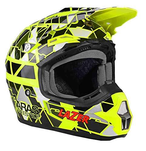 Lazer Helm X7 Aras Freestyle Cross Motard Enduro Trial Off Road ATV Quad Gelb XL