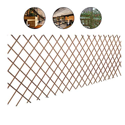 YOGANHJAT Celosía Madera para Plantas Celosia Extensible Mimbre Ideal para decoración Exterior...