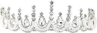 FELICILII Capelli Superiore Nuziale Corona di Cristallo Strass Ornamento Corona delle Donne
