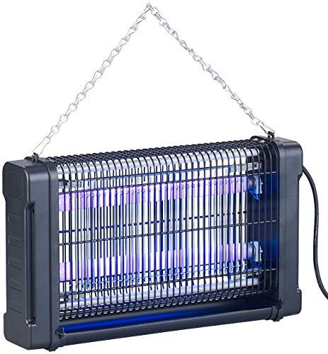 Lunartec Mückenschutz: UV-Insektenvernichter mit Rundum-Gitter, 2 UV-Röhren, 4.000 V, 20 Watt (Insektenvernichter UV-Licht)