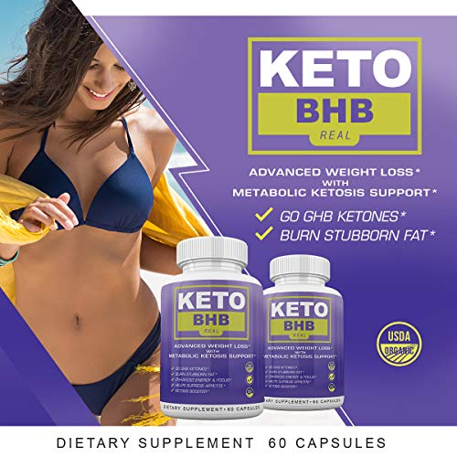Keto BHB Real - Advanced Weight Loss with Metabolic Ketosis Support - 180 Capsules - 90 Day Supply 2