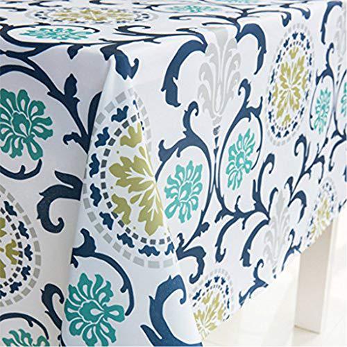 GWELL Tischdecke Eckig Abwaschbar Oxford Tischtuch Pflegeleicht Schmutzabweisend Farbe & Größe wählbar Muster-G 140 * 180cm