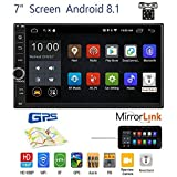 OiLiehu Android 8.1 Car Stereo Radio Receiver, Double Din 7'' HD Touch Screen...