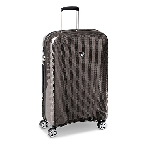 Roncato Premium Carbon Trolley Medio - 4 Ruote, 72 Cm, 72 Litri, Carbon/Warm Grey