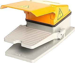 R TOOGOO 220V 10A Interruptor del pedal del pie de energia electrica momentaneo plastico antideslizante SPDT