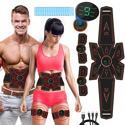 ceinture tonique abdominale - Perte de poids rapide, ceinture d'entraînement musculaire pour les femmes et les hommes, ceinture / bras / jambes / Abs...