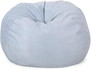 Christopher Knight Home Harrison Modern 5 Foot Microfiber Bean Bag Cover Only, Sea Foam Teal