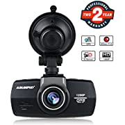 "Dash Cam with GPS for Car, ABLEGRID AG100 Dashboard Camera 1296P HD 2.7"" 160°Wide Angle Car DVR Driving Recorder with Super Night Vision Parking Monitor G-sensor"