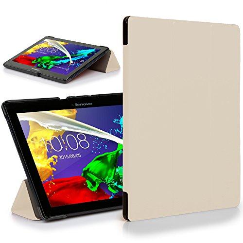 Forefront Cases Lenovo Tab 2 A10-30 Funda Carcasa Stand Case Cover Protectora Plegable – Ultra Delgado Ligera y Protección Completa del Dispositivo (Blanco)