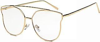 fhccy New Sunglasses Trend Sunglasses Metal Square Frame Glasses Anti-Uv Tide Male Tide Female
