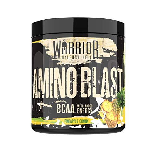 Amino Blast BCAA Powder - Pre-Workout Energy Drink - 30 Servings - Pineapple Crush | Warrior Supplements