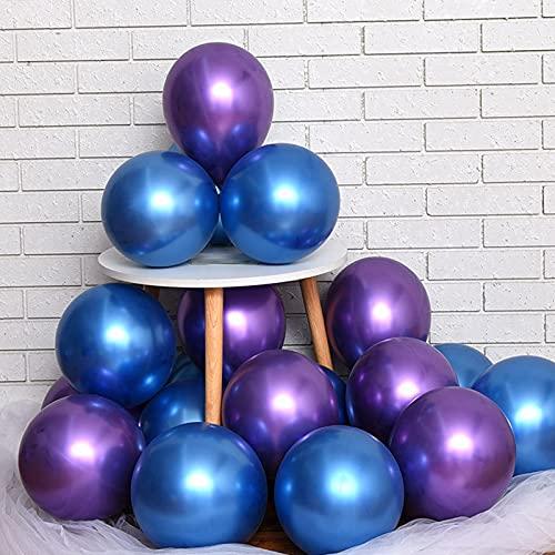 Arrogant 100 globos de decoración para fiestas, globos metálicos, cadena de globos, globos de látex para fiestas, cumpleaños, bodas