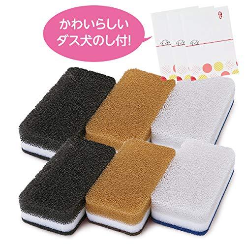 ダスキン【公式】台所用スポンジ抗菌タイプ 6個(オシャレ)のし付 キッチンスポンジ