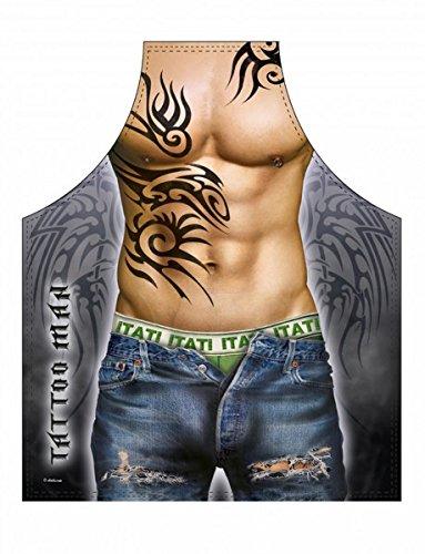 Tattoo Man Grillschürze Kochschürze Sexy Mann