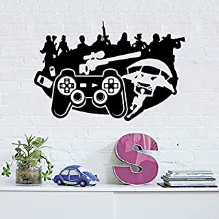 Holly LifePro Gamer Wall Decal Poster Lettering Wall Stickers Murals for Boys Bedroom Playroom Video Game Art Design Stick...