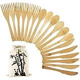 PFCTRJR Reusable Bamboo Cutlery Set -18...