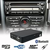 Stereo Bluetooth Handsfree A2DP USB SD AUX MP3 WMA CD Changer Adapter Interface...