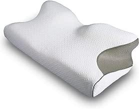 tobest 4つの寝姿勢をサポート ニューロンピロー 安眠 枕 横向き 仰向け うつ伏せ マルチに対応 低反発 首こり 頭痛 肩こり 負担軽減 洗える専用カバー付き