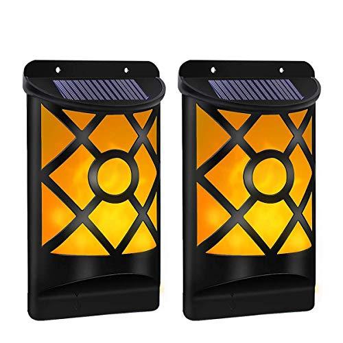 LED Solarleuchte für Außen B-right Solarfackeln Wandleuchte Solar Wandleuchte Wandlampen mit Flackernd Flamme, IP65 Solar Fackeln Solarlampen Gartenleuchte für Außen Wand Flur Garten Patio
