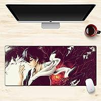 防滑橡胶底座 精确控制90 * 40厘米 耐水笔记本PC鼠标垫 适合Tokyo Ghoul東京喰種游戏鼠标垫 (900x400x3mm)-A_700*300*3MM