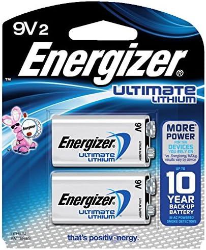 Energizer Ultimate Lithium 9V 2 Pack L522BP2 product image