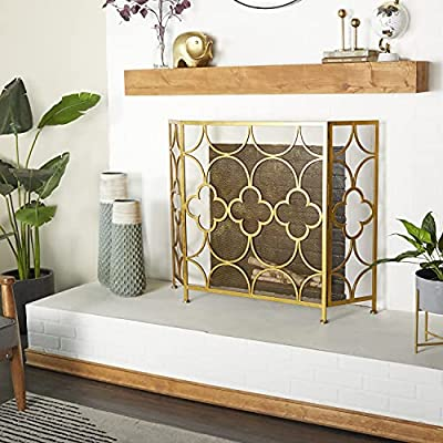 Deco 79 Metal Fireplace Screen, 50 by 35-Inch by Deco 79