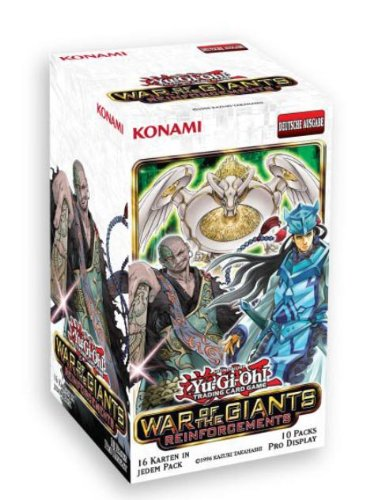 Konami YGO-WGR-de - Kartenspiel - Yu-Gi-Oh - War of The Giants Reinforcement 10-er Booster Display, deutsch