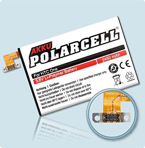 Akkustar Polarcell Akku Für Htc One M7, 2450Mah