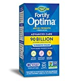 Nature's Way Fortify Optima 50+ Daily Probiotic, 90 Billion, 15 Strains, Prebiotic, 30 Capsules