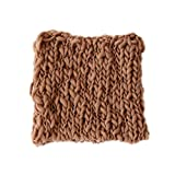 Coberllus Newborn Baby Photo Props Blanket Handmade Knitted Twist Wrap Posing Aid Backdrops For Boy Girls Photography Shoot (Coffee)