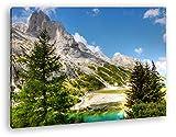 deyoli Berge in Südtirol Format: 120x80 als Leinwandbild,